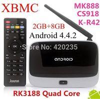 TV Box MK888 (K-R42/CS918) Android 4.2.2 2GB/8GB RK3188 Quad Core Mini PC WiFi XBMC Smart TV Media Player with Remote Controller