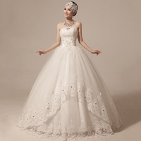 New arrival 2014  Winter wedding dress sexy tube top wedding dress sweet bride wedding hs237