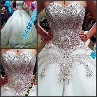 2014 bandage tube top wedding dress princess big train wedding dress 2014