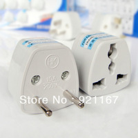 2014NEW, Hot Cheap 2pieces, Universal New AUS US UK to EU AC Power Travel Plug Adapter,Free shipping