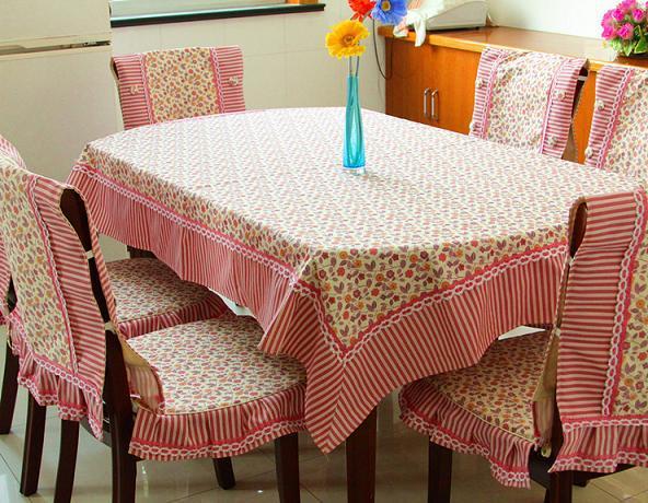 Pastoral Print Floral Cotton Linen Canvas Table Cloth(China (Mainland))