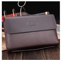 2014 new polo men's handbags leather hand bag hand grasp business long large messenger bag