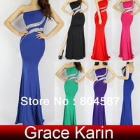 Wholesale/Retail! Hot Sale Colorful Long Sexy Backless Wedding Dresses Sequin Bandage Dress Cocktail Evening Gown CL6062