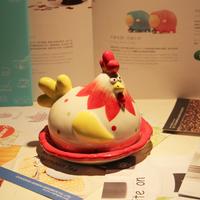 New cartoon funny hen style ceramic butter plate, bread / cake / dessert tray