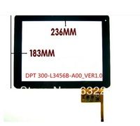 "Free Shipping 9.7"" Inch Touch Screen Digitizer Touch Panel Glass for Flytouch H08S Android 4.0 MB9703 tablet DPT 300-L3456B-A00"