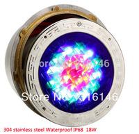 304 Stainless Steel Epistar 12W LED Pool Light Underwater LED Swimming PooL Light Red, Yellow, Green, Blue, White