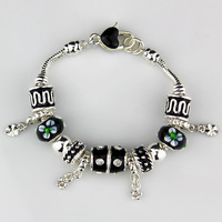 2014 NEW Simple fashion Bracelet Bangle for Women,Colored beads bracelet chaim silver plated Bracelets. Wholesale FREE SHIPPING