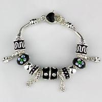 2014 NEW Simple fashion Bracelet Bangle for Women,Colored beads bracelet chaim silver plated Bracelets. Wholesale FREE SHIPPING