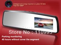 H. 264  1080P DVR Car Black Box Camera Recorder G-sensor with 3 inch rearview mirror