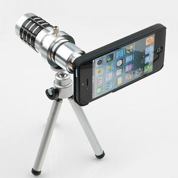 12X оптических линз телефон телескоп объектив с мини-штатив чехол для iphone 4 4S 5 5S Samsung Galaxy S3 S4 примечание 2 3