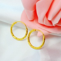Classic small hoop earrings 24k gold plated circle, seniority new gift for mom accessories