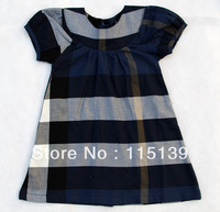 Free shipping-2014 summer cotton fashion girls clothing red plaid one-piece dresses child tank dress ruffle dress