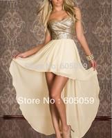 UWC129 strapless women sexy chiffon dresses shealth clubwear party evening long dress 2014 New