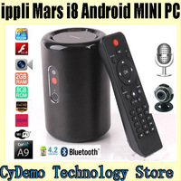 IPPLI Mars i8 Android TV Box Quad Core Smart TV Receiver Mini PC RK3188/1.6GHz 2G/8G HDMI WiFi 5.0MP cam/MIC/Earphone/Miracast