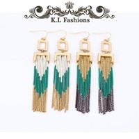 2014 new tassel earrings long tassel earring for women free shipping hot sell 1401102 (KL)