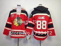 Youth Hoodie Chicago Blackhawks #88 Patrick kane 2014 NHL Kids Jerseys Hockey Jersey Hooded ICE Winter Authentic Free Shipping