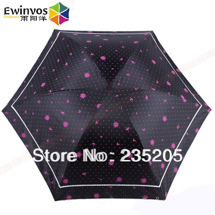 Ewinvos Ultra Light Exceed Short 221g Parasol Compact Umbrella Rain Women Parasol Lace Dot Flower for Sale Wine Daisy(China (Mainland))