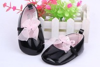 BLACK Soft Baby Girls Toddlers Infants Floral Lace Bowknot Crib Shoes Free shipping&Drop shipping