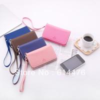 Free shipping 150PCS/LOT Korea ARDIUM Smart fold Multi Pouch for iPhone 4g 4s PU wallet leather handbag