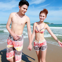 Beach lovers male quick-drying beach pants shorts female lovers casual shorts