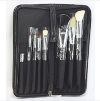 Professional Cosmetic Makeup Brush Set 8 pcs Kit Black Case Travel Pouch Free Shipping