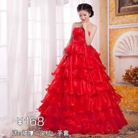 Maternity wedding dress plus size white wedding dress red train princess straps wedding dress