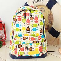 Female bag owl backpack female preppy style backpack girls school bag  free shipping