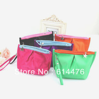 Free shipping 500PCS/LOT Fashion Korean Women Lady's Makeup Case/MP3/Phone Cosmetic Storage Pouch Coin Purse cosmetic bag