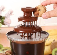 2014 New Mini Chocolate Fountain Household 3-Tier Chocolate Fondue Machine Choco Tree EU Standard Free Shipping