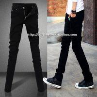 Male thickening jeans slim jeans black skinny pants pencil pants vintage male