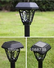 LED Luz De Solar Panel Lawn Lamps Hyundai Solaris Deco De Noel Solar Path Gutter Fence Light for Home Garden Outdoor decoration(China (Mainland))