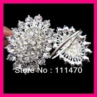 FREE SHIPPING wholesale 200pcs/lot flower crystal rhinestone napkin ring for wedding party table,rhinestone holder