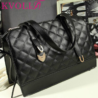 BUENO 2014 hot new fashion women handbag plaid vintage shoulder bag bucket messenger bags HL1544