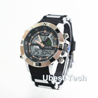 Fahison Weide Men Analog  Quartz Sport Watch Dive Watches Waterproof Wristwatch LED Back Light LCD Display Alarm Stopwatch