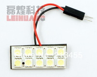 200sets Free Shipping White Universal 10 Led Car Interior Light Lamp + T10 & Festoon Ba9s Base