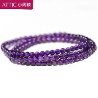Natural amethyst bracelet crystal accessories multi-layer Women refreshing 4mm