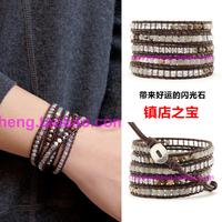 new arrival, Jeseny star bracelet natural crystal moonlight lucky stone spirally-wound bracelet