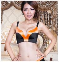 A piece seamless wireless bra push up female thin thick adjustable underwear no bra brief insert