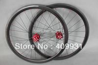 Carbon road disc wheels 38mm clincher 3k-glossy racing wheels 38C-DISC