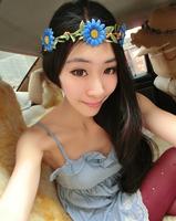 free shipping 2014 wholesale wedding floral hoop beach headbands