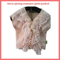 girls blouse pink lace summer girl jacket fashion hot girl shirt flower new design 2013 brand girl tee hot children clothing