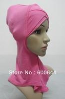 12 Pieces/lot New Style Muslim Inner Hijab Caps Islamic Underscarf Hats Ninja Hijab, assorted colors