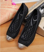 Free shipping Lady 2014 shoes new single shoes pointed flat heel women shoes J3032