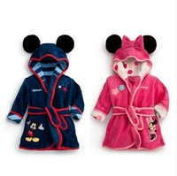 2014 Children's clothes  Minnie mickey modelling  boys and girls Bathrobes Bath towel,Sleepwear & Robes,5pieces/lot hot