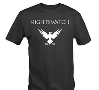 "2014 "" NIGHTS WATCH "" Eagle Tee T Shirt Castle Black Game of Thrones Jon Snow Quality Mens t-shirts"