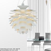Pendant light bedroom pendant light brief modern restaurant lamp study light aluminum pendant light pinecone p909