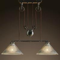 Factory wholesale Pulley antique double pendant light