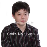 2014 New Fashion Man's nautral short hair wig Cosplay Full ping  Gift cap free shipping