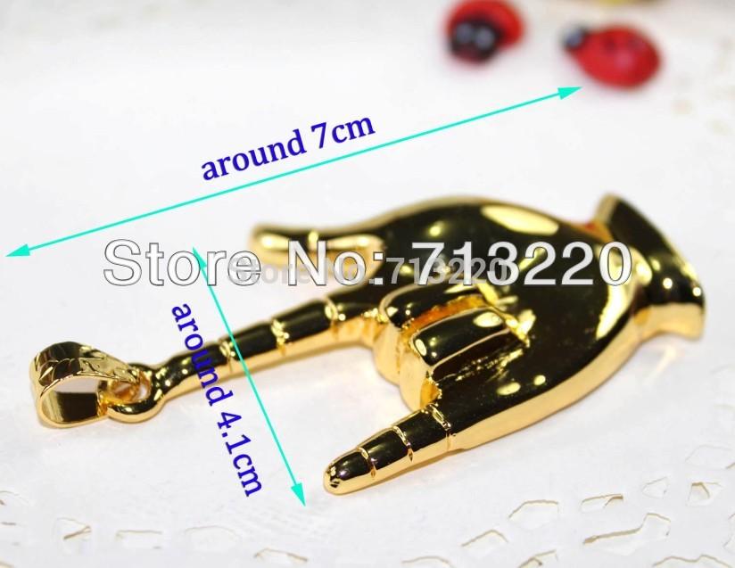 Cute Golden Finger Pendant Jewelry 32GB USB Drive 4GB 8GB 16GB USB 2.0 Memory Flash Brand New Free shipment(China (Mainland))