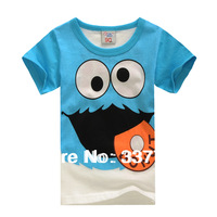 2014 Cotton cartoon t shirt for boys girls short-sleeve  wholesale t-shirts children girls tops tee children clothing round neck